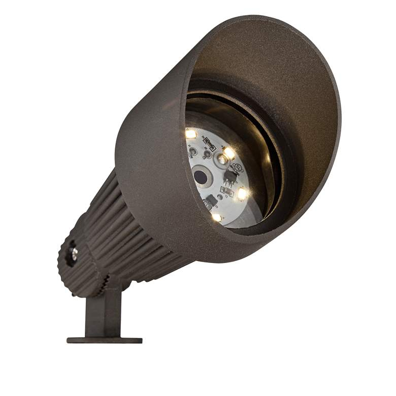 Hooded Bronze 8-Piece LED Landscape Spot Light Set more views