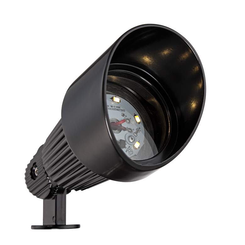 Hooded Black 6-Piece LED Landscape Spot Light Set more views