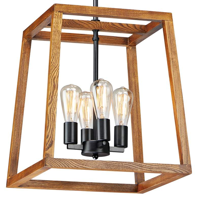 "Maxim Black Forest 16 1/2""W Black and Ashbury Pendant Light more views"