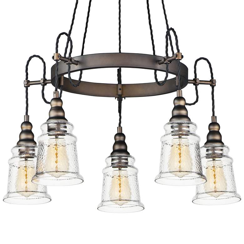 "Maxim Revival 26 1/2"" Wide Oil-Rubbed Bronze 5-Light Pendant more views"