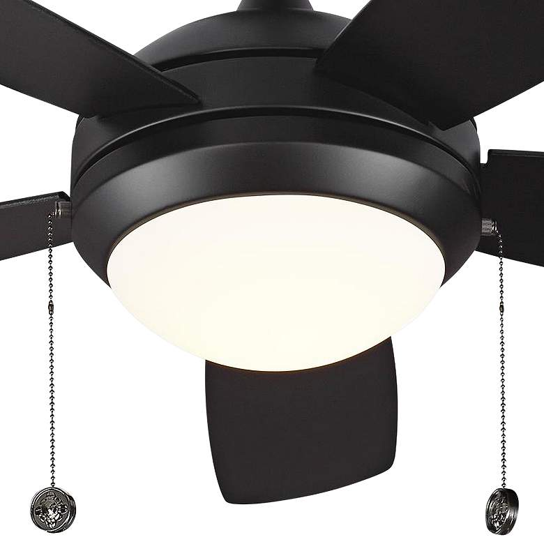 "44"" Monte Carlo Discus II Matte Black LED Ceiling Fan more views"