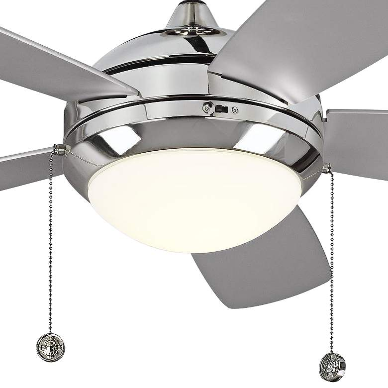 "44"" Monte Carlo Discus II Polished Nickel LED Ceiling Fan more views"