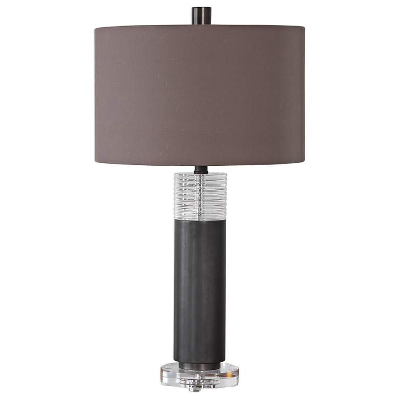 Uttermost Ryne Plated Oxidized Bronze Iron Column Table Lamp more views