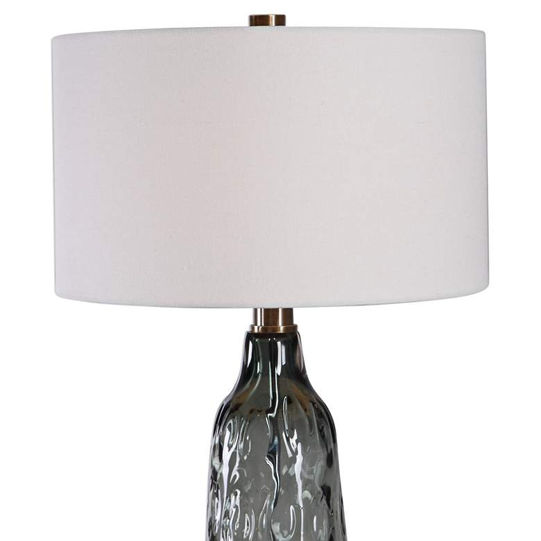 Zena Translucent Blue Gray Thick Water Glass Table Lamp more views