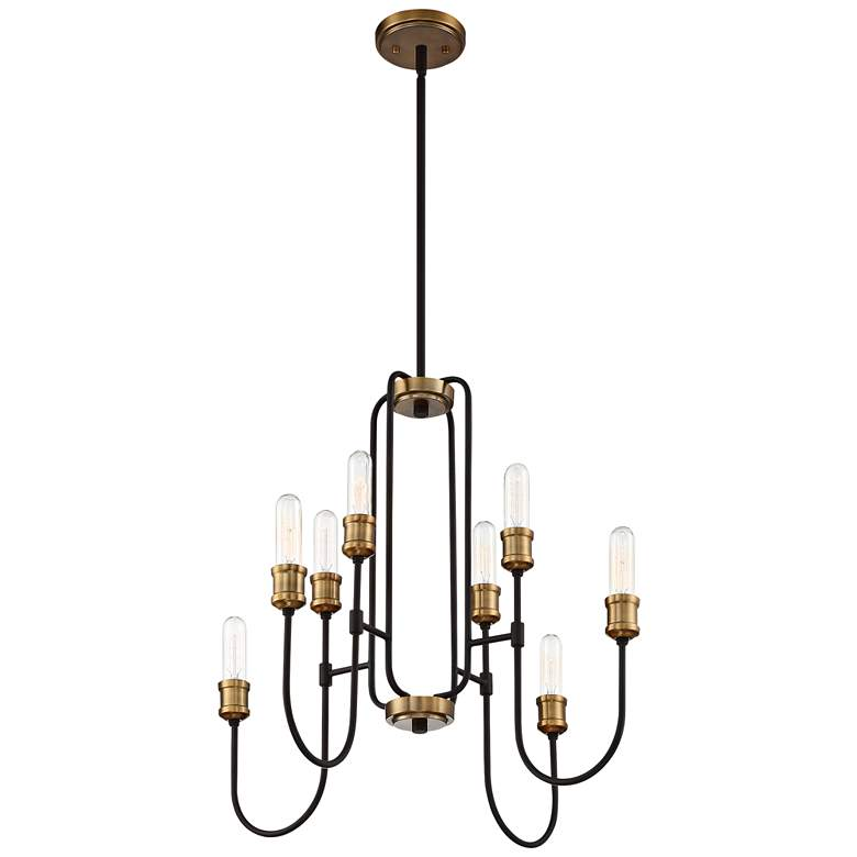 "Quoizel Channel 26"" Wide Western Bronze 8-Light Chandelier more views"