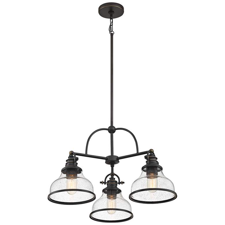 "Quoizel Grant 24"" Wide Palladian Bronze 3-Light Chandelier more views"