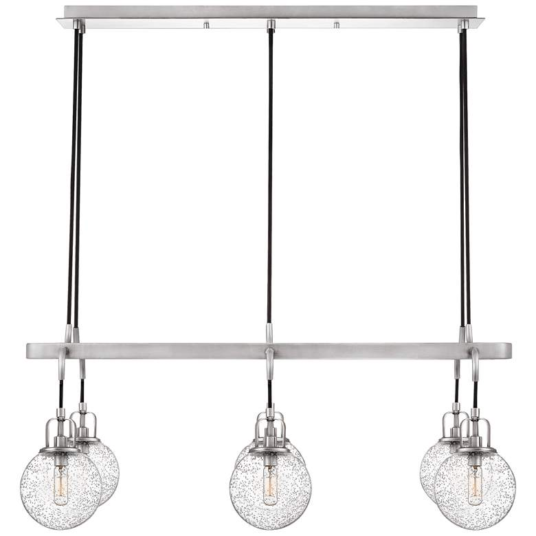 "Hybrid 36""W Antique Nickel Kitchen Island Light Chandelier more views"
