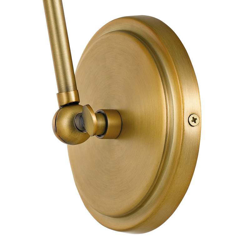 "Quoizel Elmdale 11""H Weathered Brass Adjustable Wall Sconce more views"