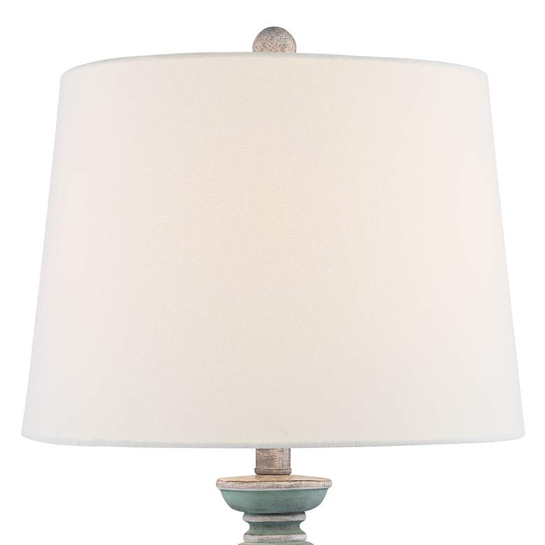 Pasty Blue-Gray Washed Table Lamps Set of 2 more views