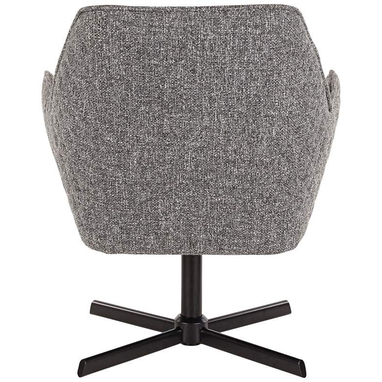 Diana Gray Noise Fabric and Black Metal Swivel Lounge Chair more views