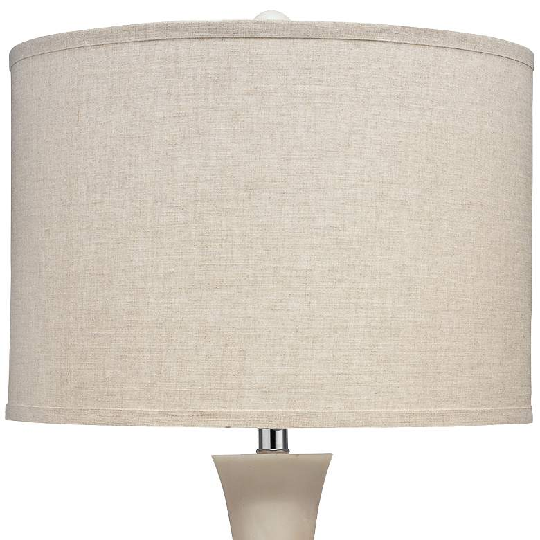 Jamie Young Commonwealth White Faux Alabaster Table Lamp more views