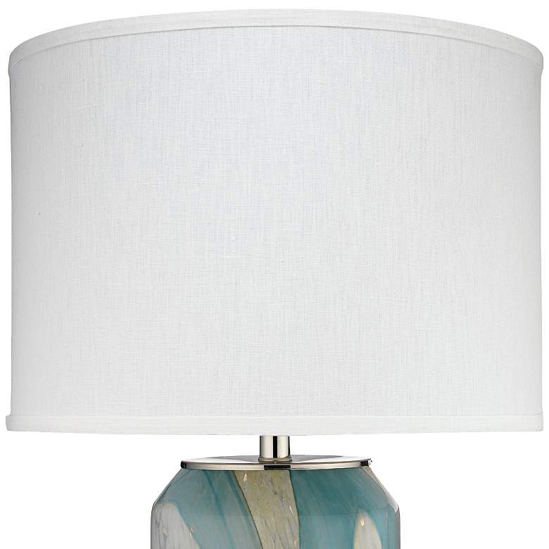 Jamie Young Helen Abstract Pale Blue Glass Table Lamp more views