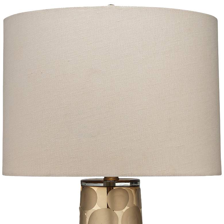 Jamie Young Pebble Taupe Etched Mouth-Blown Glass Table Lamp more views
