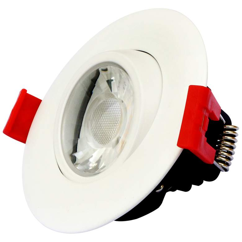 "Canless 3"" Round Gimbal White 8 Watt LED 5 Color Adjustable Downlight more views"