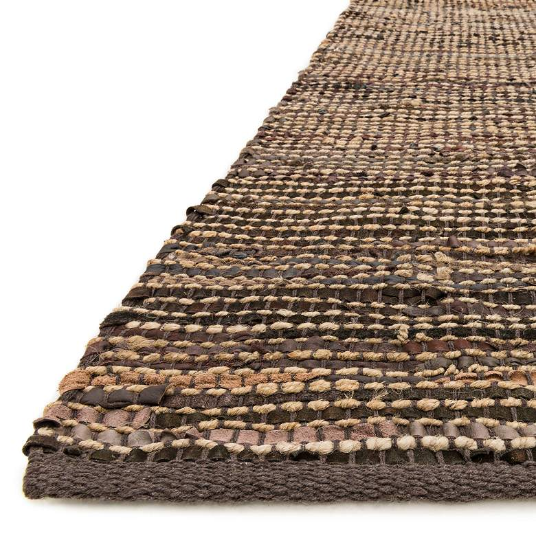 "Loloi Edge 5'x7'6"" Brown Hand-Made Area Rug more views"