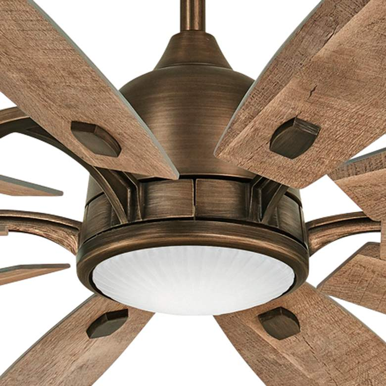 "65"" Minka Aire Barn Heirloom Bronze LED Ceiling Fan more views"