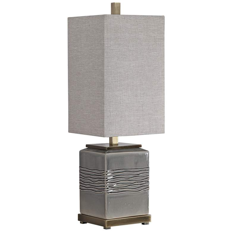 Uttermost Covey Warm Gray Glaze Ceramic Buffet Table Lamp more views