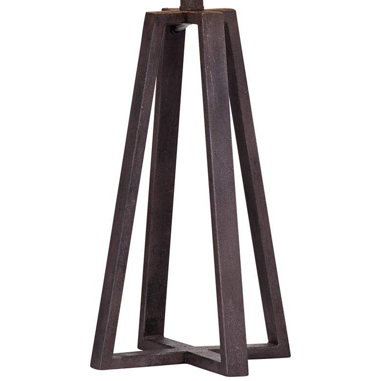 Denison Rustic Bronze Geometric LED Table Lamp more views