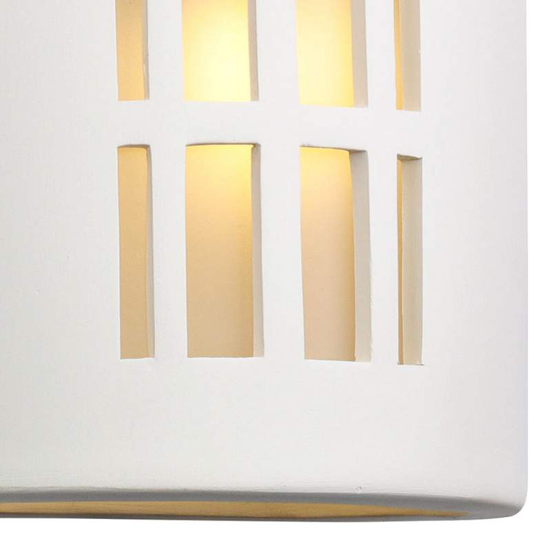 "Vestry 13"" High Paintable White Bisque Outdoor Wall Light more views"
