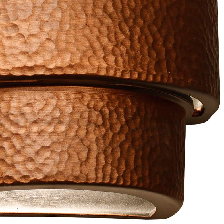 "Hammerman 10"" High Rubbed Copper Banded Outdoor Wall Light more views"