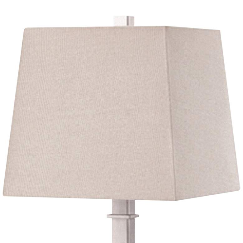 Madison Brushed Nickel Table Lamp with Base Utility Plug more views