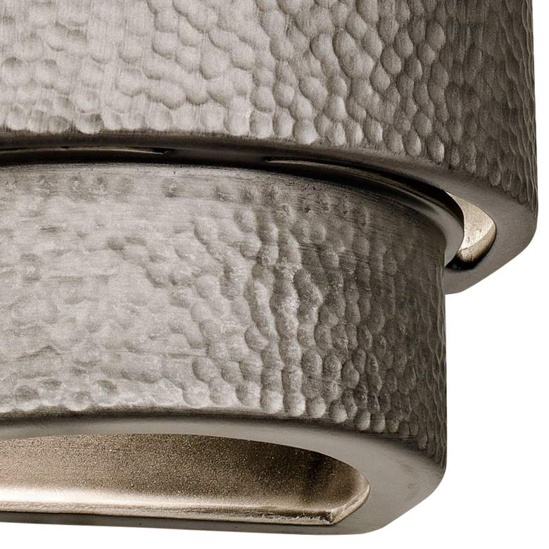 "Hammerman 13 1/2""H Rubbed Pewter Ceramic Outdoor Wall Light more views"