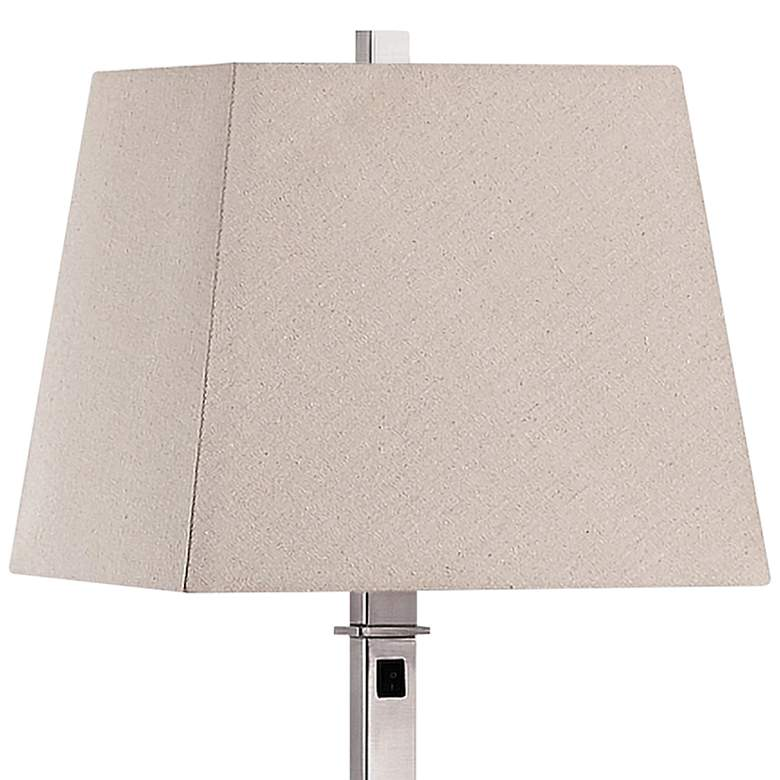 Windsor Square Brushed Nickel Metal Floor Lamp more views
