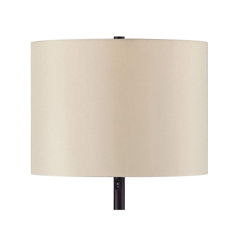 Burress Oil-Rubbed Bronze Column Floor Lamp with Dome Base more views
