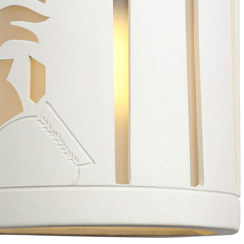 "Asavva 13"" High Paintable White Bisque Outdoor Wall Light more views"