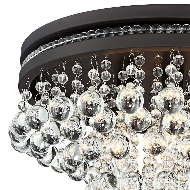 "Regina Bronze 15 1/4"" Wide Crystal Ceiling Light more views"