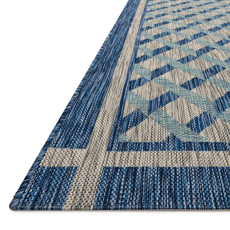 "Loloi Isle IE-07 5'3""x7'7"" Gray and Blue Area Rug more views"