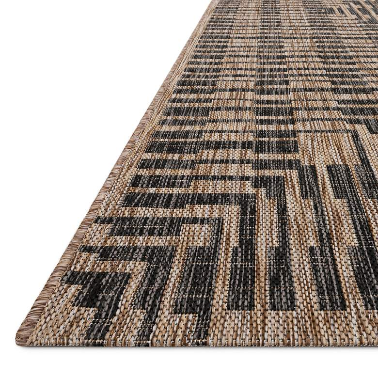 "Loloi Isle IE-09 5'3""x7'7"" Brown and Black Area Rug more views"