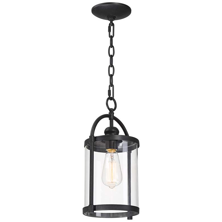 "Avani 15"" High Black Outdoor Hanging Light more views"
