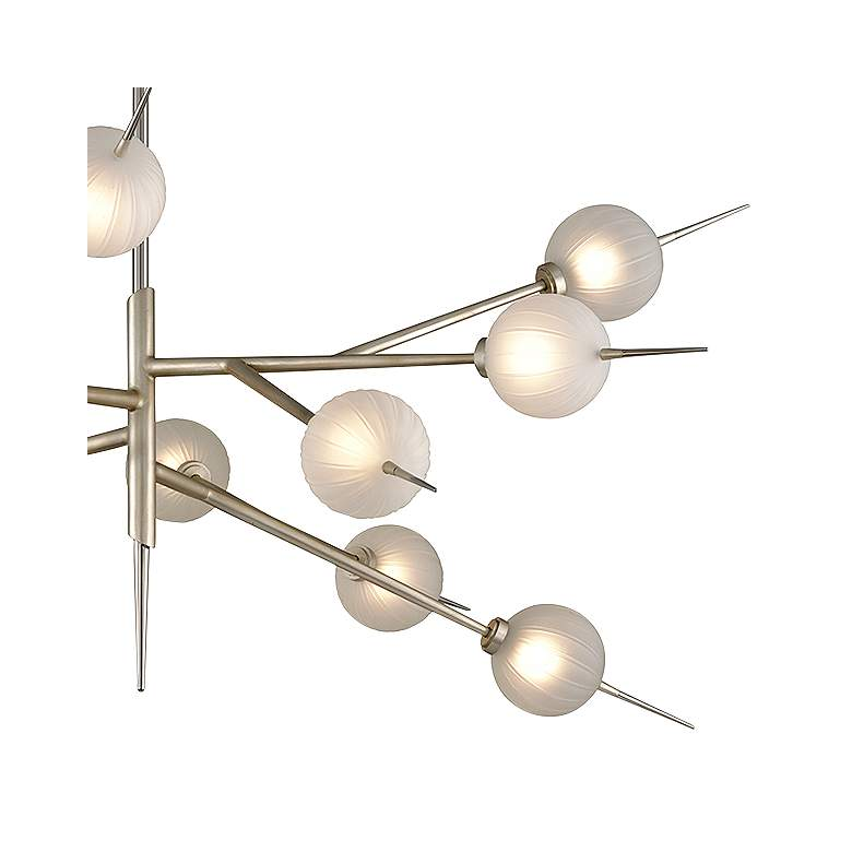 "Tempest 56"" Wide Satin Silver Leaf 12-Light LED Chandelier more views"