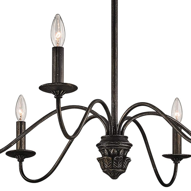 "Poppy Hill 38"" Wide Pompeii Silver 6-Light Iron Chandelier more views"