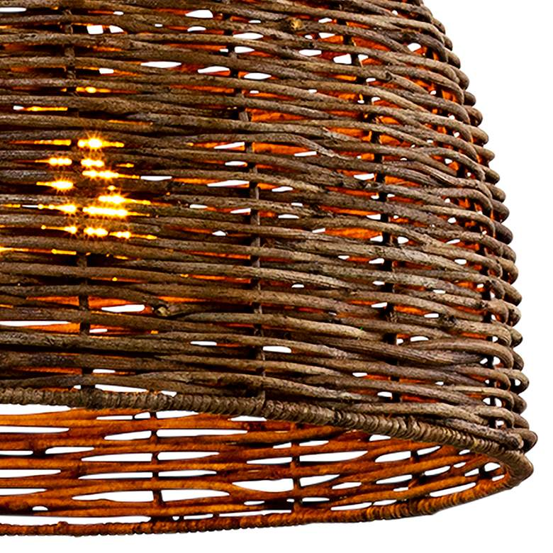 "Huxley 24"" Wide Tidepool Bronze LED Basket Pendant Light more views"