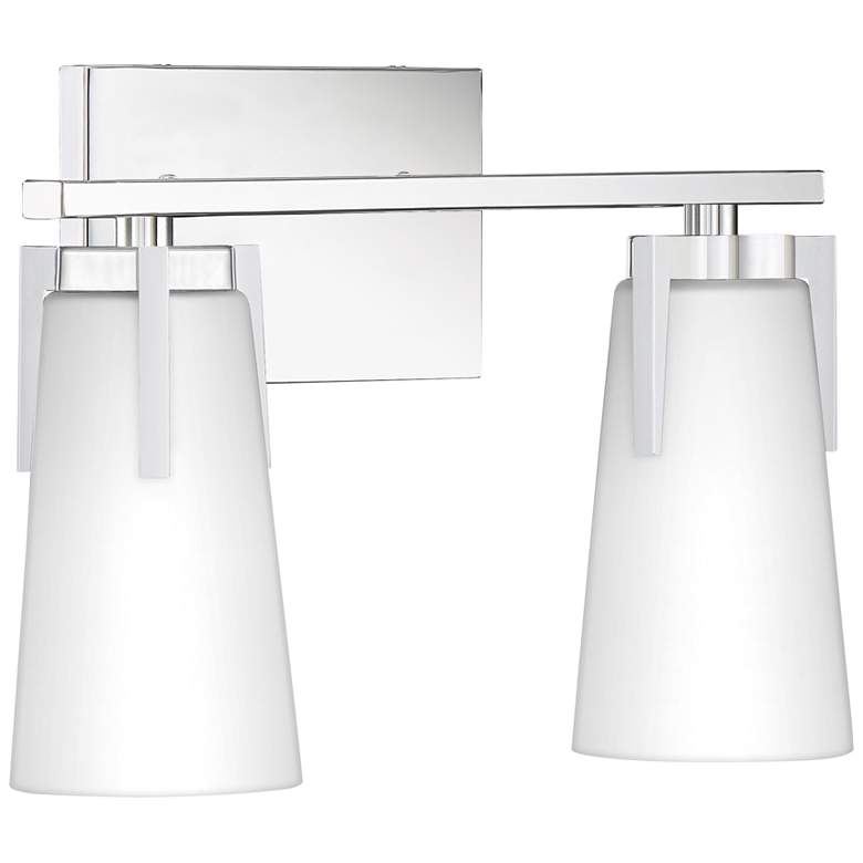 "Quoizel Miriam 9 3/4""H Polished Chrome 2-Light Wall Sconce more views"