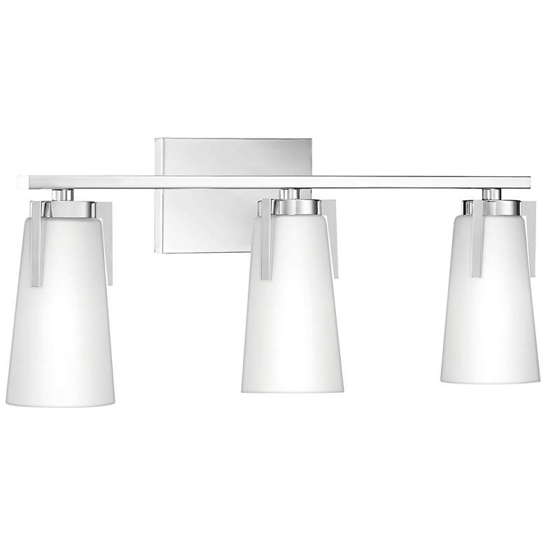 "Quoizel Miriam 22 1/2""W Polished Chrome 3-Light Bath Light more views"