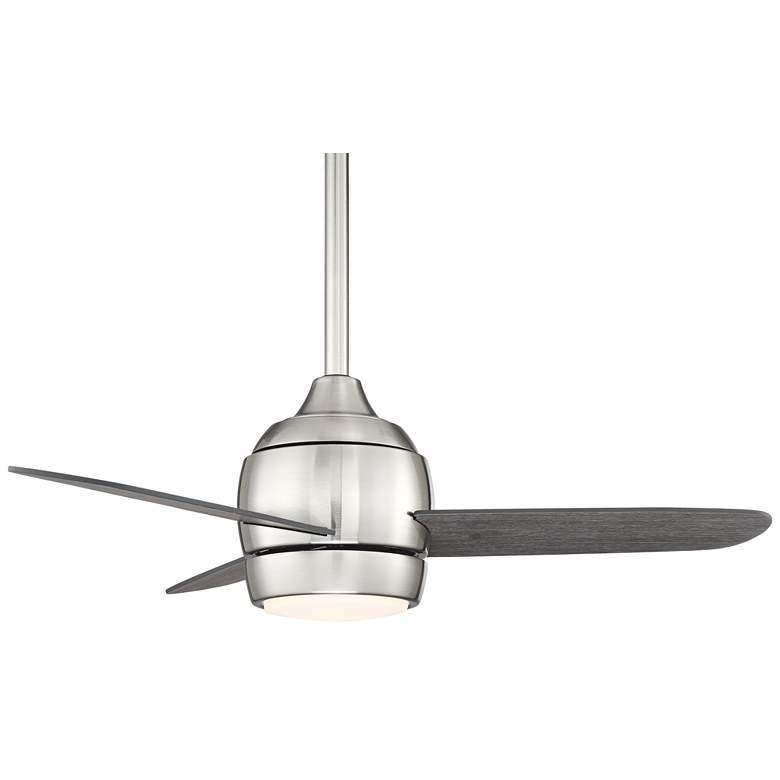 "36"" Chalet Brushed Nickel and Gray Wood LED Ceiling Fan more views"