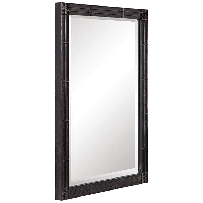 "Uttermost Gower Rustic Black 25 1/4"" x 34 3/4"" Vanity Mirror more views"