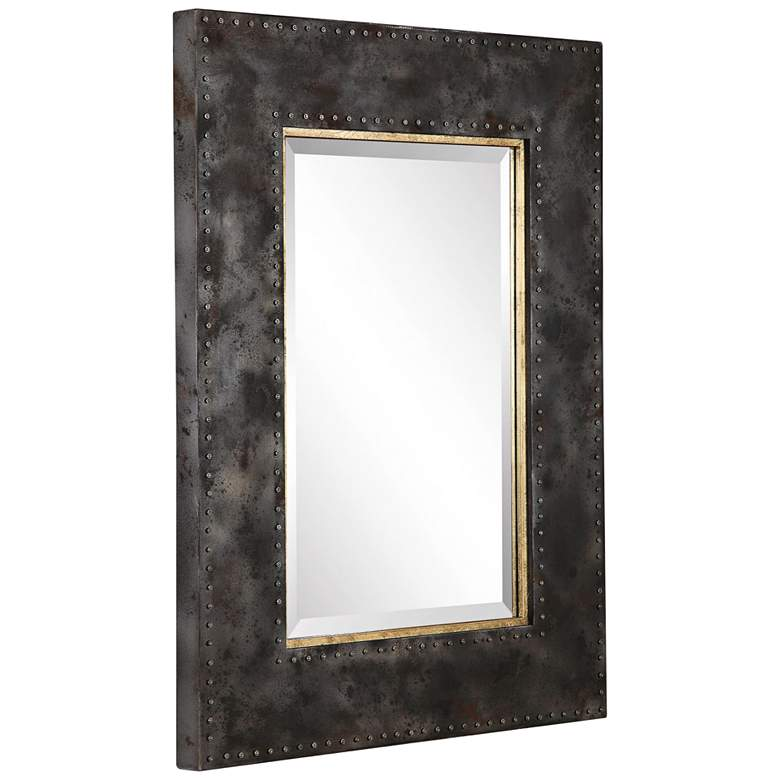 "Uttermost Amparo Oxidized Steel Gray 30"" x 40"" Wall Mirror more views"