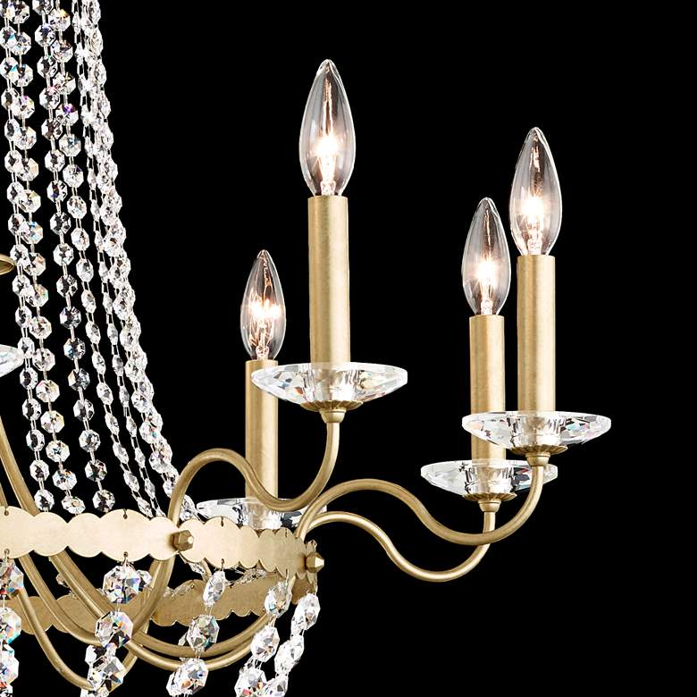 Early American 33 Wide Crystal 10-Light Chandelier more views