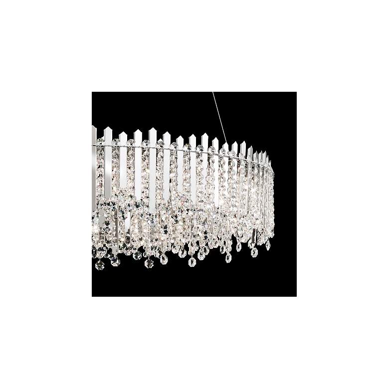 "Schonbek Chatter 24""W Stainless Steel and Crystal Pendant more views"