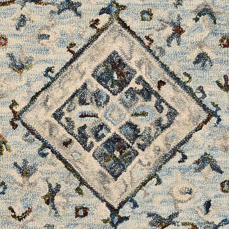 "Loloi BEA-01 5'0""x7'6"" Light Blue and Blue Area Rug more views"