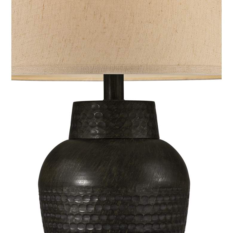 Auburn Hammered Bronze Table Lamp with USB Workstation Base more views