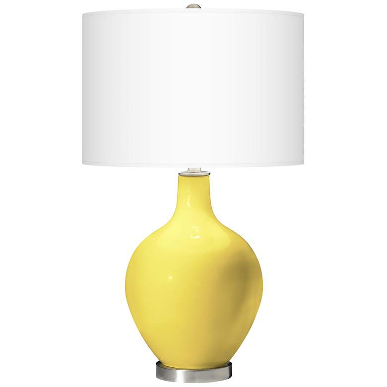 Lemon Twist Ovo Table Lamp with USB Workstation Base more views