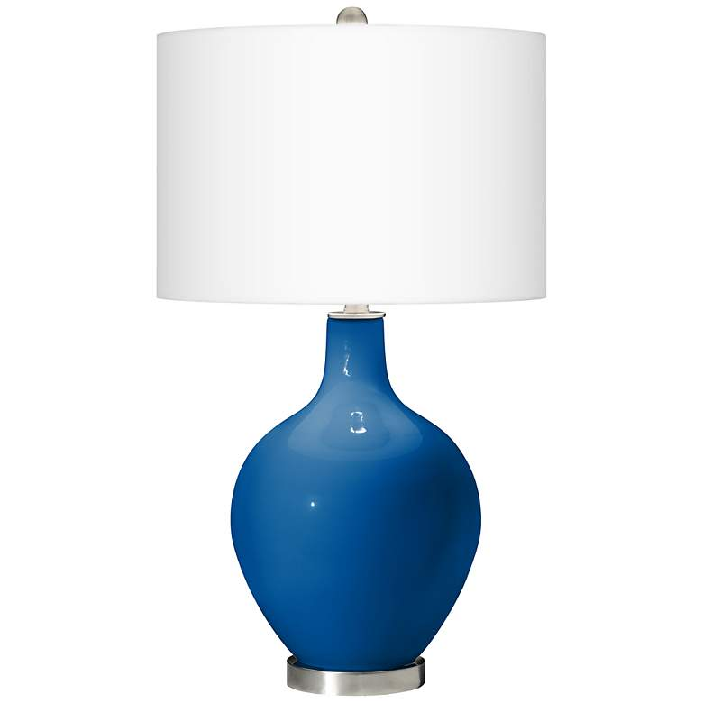 Hyper Blue Ovo Table Lamp with USB Workstation Base more views