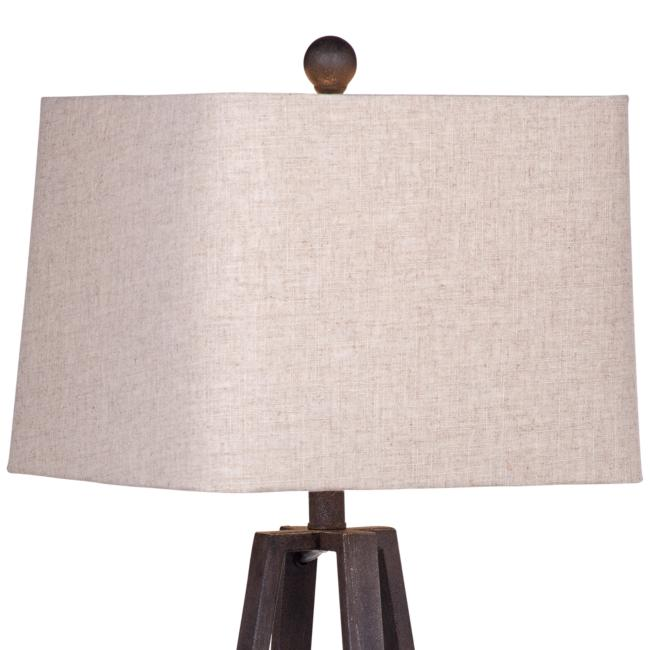 Denison Rustic Bronze Geometric LED Table Lamp
