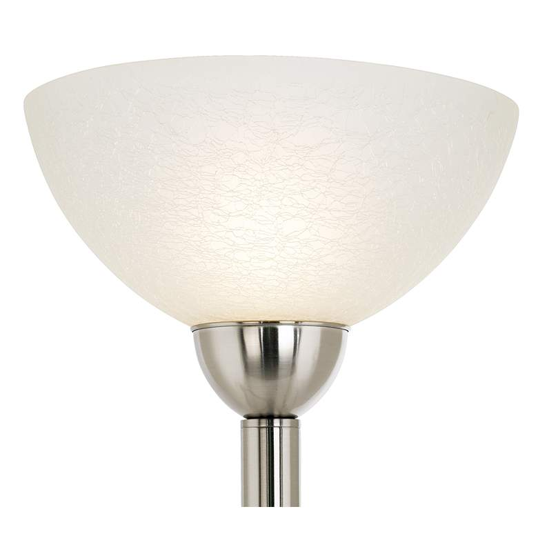 Alexei Brushed Nickel Gooseneck Torchiere Floor Lamp more views