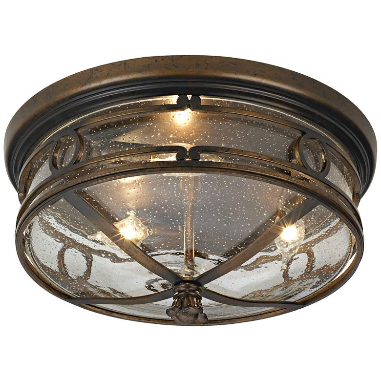 "Beverly Drive 14"" Wide Indoor-Outdoor Ceiling Light more views"